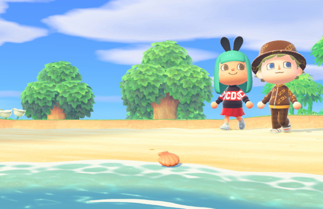 GCDS partnered with Crossing the Runway to offer designs to Animal Crossing players