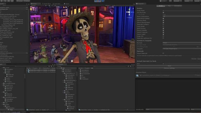 Unity offers a platform to develope low-cost or free games